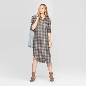 Universal Thread Long Sleeve Shirt Dress